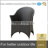 Chinese factory made outdoor rattan furniture garden wicker rattan dining chair