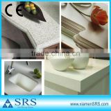 white artificial quartz stone kitchen countertop and vanity top