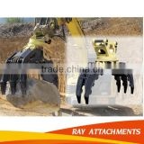 Durable excavator log Grabs, high quality,excavator clamp ISO certificated PC240 PC130 Wood grapple