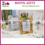 Classical Creative Photo Picture Frame Modern Design With Gold or Silver Plastic Photo Frame