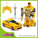 New design cartoon deformation model remote control fighting robot toy