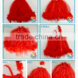 New girls rosette dresses kids dresses for weddings birthday evening party feather tutu long dresses set