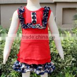 Wholesale Red Baby Cotton Suits With Button Decoration