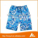 Fashion wholesale 100% polyester quick-drying summer swim trunks board shorts