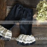 soft textile baby icing ruffle pants and wholesale children denim pants and eco-friendly baby bloomers wear