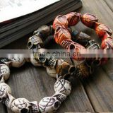 diy Turquoise skull beads bracelets mens skull charm bracelets for 2016 Halloween Day promotion products