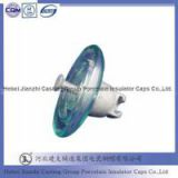 high voltage toughened glass disc 70KN insulator cap fittings
