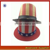 New design custom top costume paper starw hat custom funny party paper straw hat with printing patterns-ZT-s88