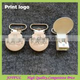 Lead free metal suspender clips/custom logo pacifier clip (15MM,20MM,25MM)