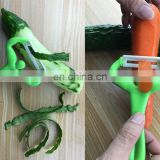 Stocked man shape plastic peeler zester with ceramics cutter for safe kitchenware