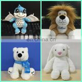 HI CE/ASTM/AZO standard plush dog,bear,panda,lion,rabbit,dinosaur,elephant custom stuffed animal plush toy
