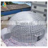 Transparent outdoor camping double layer bubble dome tent
