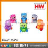 9.5CM On The Solid Color Clever Owl Wind Up Toys Cheap