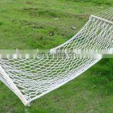 Nylon net mesh hammock with Garden Wooden Rope