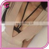 customize wholesale garter belt women pastel gothic bust strap bra rave wear binding sexy women cage bondage lingerie