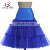 Grace Karin Royal blue Tutu Petticoat Underskirt Crinoline Skirt For Wedding Vintage Dress CL008922-7