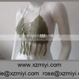 Sexy 2015 Summer Trends Crochet Green Brazilian Bikini Top,Crochet Halter Top, Crop Top