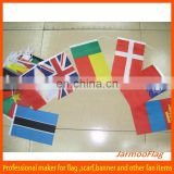 customized national flag polyester string flag