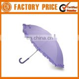 Young Lady Eleglant Umbrella Flower Edge Umbrella
