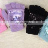 sequins gloves acrylic knitted glove