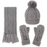 Joy Fashion Supplier Factory Manufactory Hat Scarf Glove Knitted Knitting Set