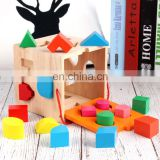 Young children baby assembled building blocks