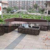 elegant pe rattan garden sofa furniture with table                                                                         Quality Choice