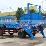 New 6Tons-8Tons Hydraulic Arm Garbage Truck Dongfeng Swing Arm Garbage Vehicle With Buckets Whatsapp 0086 15897603919