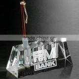 Crystal pen holder desk top pen stand crystal pen holder stationery set