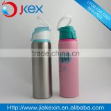 Colorful painting Wholesale wide mouth long neck single wall stainless steel sport water bottle