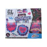 2015 New Arrival DIY kit toy Create your own cushion,Message cushion set for kids craft kit
