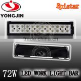 New 72w led light bar, 3w led light bulb auto parts led work light bar for off road atv truck ute use