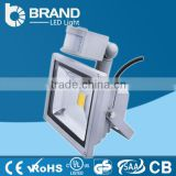 3 years warranty LED Flood Light 50w ip65 Flood Light led high lumen led flood light PIR sensor white shell