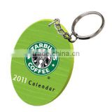 Sublimation plastic oval shape keyring/Promotional products/Advertising gifts