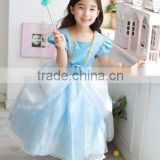 2015 New Cinderella Kids Dress Blue Princess Girl Dress With For Cinderella Cosplay Costume Girl Fancy Dresses