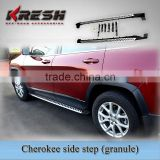 Hot sell Aluminum 4x4 SUV KRESH aluminum alloy Cherokee jeep side step bars with granule style and aluminum material