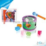 Education Kids Plastic Drum Set Toy Blocks