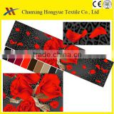 Red and Black designs Microfiber peach skin 3D printed textile fabrics for making bed cover,quilt and pillows