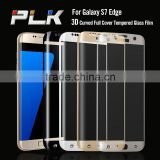Factory price full cover 3D curved tempered glass screen protector film for samsung s7 edge