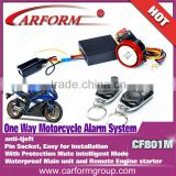 Auto parts 12V 801M motorcycle alarm system with Engine start function and waterproof main unit