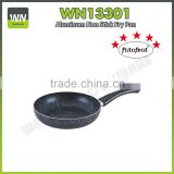 Non-stick aluminum deep frying pan pots and pans ceramic compartment fry pan with painting handle