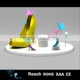 New design window display items , attractive shoes shop/store window display shoes , female display