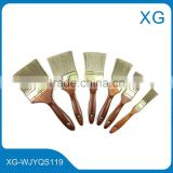 wall decorative paint roller brush/polished handle nylon paint brush