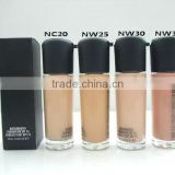 Brand cosmetic face whitening foundation for beauty colorful fashional liquid foundation makeup
