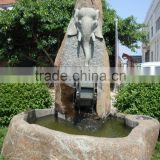 Indoor Hand Carved Natural Stone Small Waterfall Buddha Fountain