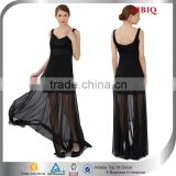 frock design for ladies elegant chiffon evening dresses long black flowy high fashion dresses