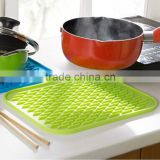 Durable Silicone Round Non-slip Heat Resistant Mat Coaster Cushion Placemat Pot Holder