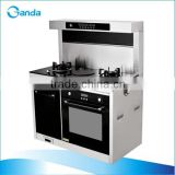 Two Burner Gas Stove+Electric Oven+Range Hood+Sterilizer Cabinets Cooking System (GT-IRG01)