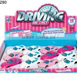 Miniature Metal Toy Cars pull back 1:43 die cast car 12pcs 4 style pink color mixing Small Metal Toy girls Cars
