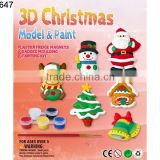 Christmas gift kids diy ceramic painting toy coloured drawing toys educational painting toys for kids